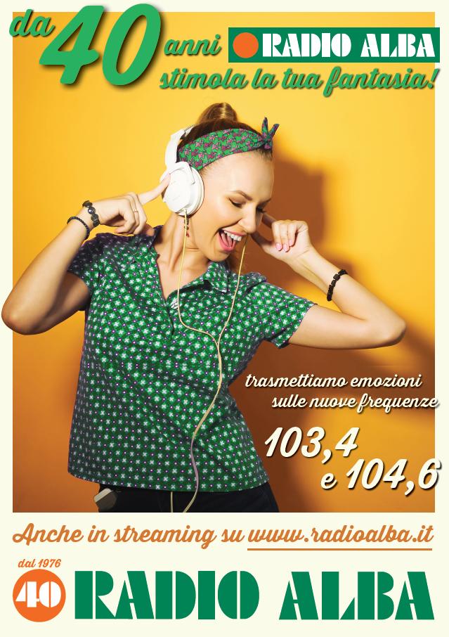locandina promozionale nuova radio alba